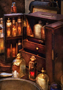 Pharmaceutical Photos - Doctor - The medicine cabinet by Mike Savad