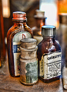 Glass Bottles Prints - Doctor The Mercurochrome Bottle Print by Paul Ward