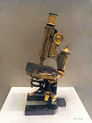 Scientific Art - Doctor - Vintage Microscope by Susan Savad