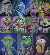 Dr Who Paintings - Doctor Who Muppet Mash-up by Lisa Leeman