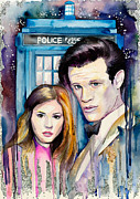 Eleventh Doctor Framed Prints - Doctor Who Framed Print by Slaveika Aladjova
