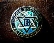 1928 Dodge Brothers Framed Prints - Dodge Brothers Emblem Framed Print by Steve McKinzie