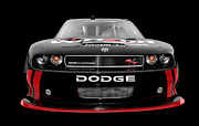 Nascar Digital Art Prints - Dodge Challenger Print by Mike Shaw