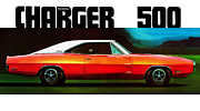 Charger Posters - Dodge Charger 500 Poster by Mark Rogan