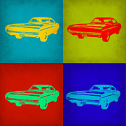 Muscle Car Digital Art Framed Prints - Dodge Charger Pop Art 2 Framed Print by Irina  March