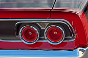 Taillights Framed Prints - Dodge Charger Taillights Framed Print by Jill Reger