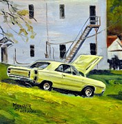 Spencer Meagher Framed Prints - Dodge Dart Swinger Framed Print by Spencer Meagher