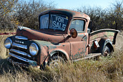 Rusted Cars Framed Prints - Dodge Pickup Framed Print by Munier Schilling