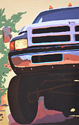Grill Paintings - Dodge Ram #1 by Paul Kuras