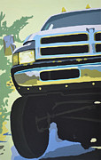 Grill Paintings - Dodge Ram #5 by Paul Kuras