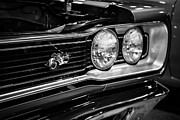 Coronet Framed Prints - Dodge Super Bee Black and White Framed Print by Paul Velgos