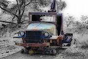 Selective Color Posters - Dodge Tow Truck 2 Poster by Cheryl Young