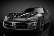 Viper Digital Art Framed Prints - Dodge Viper SRT Framed Print by Marius