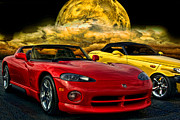 Prowler Photos - Dodge Viper ZT10 and Plymouth Prowler by Tim McCullough