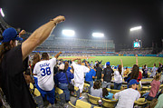 Homerun Metal Prints - Dodger Stadium 3 Metal Print by Micah May