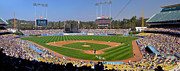 Mlb Metal Prints - Dodger Stadium Panorama Metal Print by Eddie Yerkish