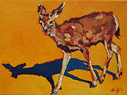 North American Wildlife Painting Posters - DOE at GRAND CANYON Poster by Patricia A Griffin