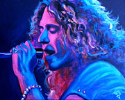 Robert Plant Painting Framed Prints - Does Anybody Remember Laughter? Framed Print by Tom Carlton