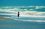 Beaches In Florida Prints - Does the ocean ever stops Print by Susanne Van Hulst