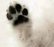 Dog Prints Art - Dog Art - I Paw You by Sharon Cummings