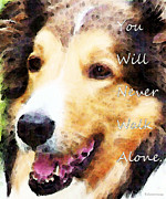 Buy Wall Art Digital Art Posters - Dog Art - You Will Never Walk Alone Poster by Sharon Cummings