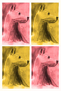 Michael Aviles Prints - Dog club-Watercolor painting Print by Michael Aviles