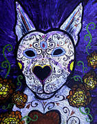 Gallacas Prints - Dog Day of the Dead Print by Lovejoy Creations