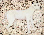 Naive Paintings - Dog by George Fredericks