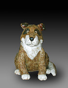 Cartoon Ceramics - Dog by Jeanette K