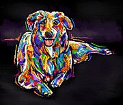 Multi Colored Paintings - Dog-multi-color by Tim Gilliland