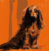 Digital Paintings - dog   Simon by Go Van Kampen