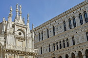 World Cities Posters - Doges Palace courtyard Poster by Sami Sarkis