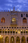 Palazzo Ducale Posters - Doges Palace in Venice sunrise detail Poster by Kiril Stanchev