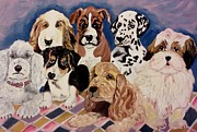 Spaniels Paintings - Doggies by Christy Brammer