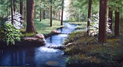 Bob Hallmark Prints - Dogwood Creek Print by Bob Hallmark