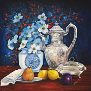 Tea Originals - Dogwood Still Life by Shirl Theis