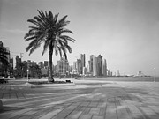 Doha Photo Framed Prints - Doha Corniche April 2013 Framed Print by Paul Cowan