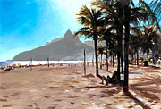 South Beach Paintings - Dois Irmaos by Douglas Simonson