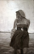 Modern Realism Oil Paintings - Dolce Breeza by Alison Schmidt Carson