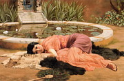 Neo-classical Framed Prints - Dolce far Niente or Sweet Nothings 1904 Framed Print by John William Godward