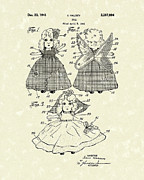 Doll Drawings - Doll 1941 Patent Art by Prior Art Design