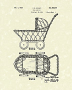 Doll Drawings - Doll Carraige 1931 Patent Art by Prior Art Design