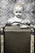 Suitcase Framed Prints - Doll In Suitcase Framed Print by Joana Kruse
