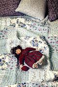Doll On Bed Print by Joana Kruse
