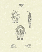 Doll Drawings - Doll Patent Art by Prior Art Design