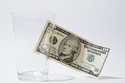 Money Posters - Dollar and glass Poster by Mats Silvan
