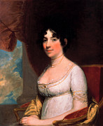 American Revolution Paintings - Dolley Payne Madison by Gilbert Stuart