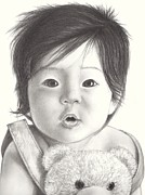 Featured Drawings - Dolls And Teddies by Heidi  Kriel