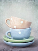 Cups Prints - Dolls China Print by Priska Wettstein