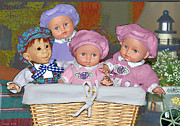 Bonnie Willis - Dolls in a Basket